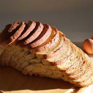 chia seed loaf bread sliced