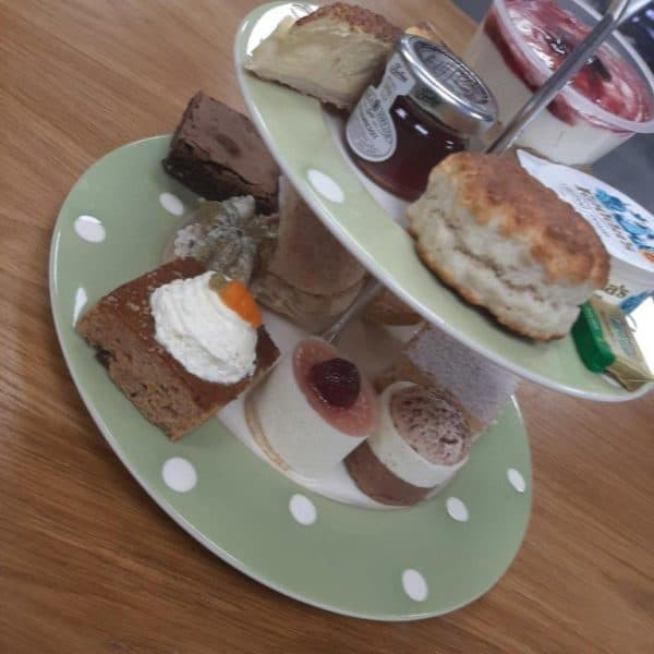 Afternoon Tea displayed on Cake stand