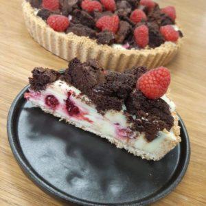 raspberry white choc slice