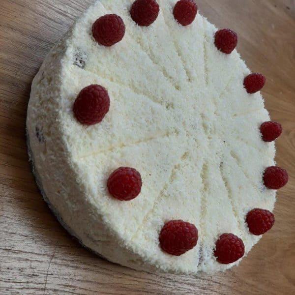 White Chocolate Raspberry cheese Cake